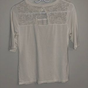 Tops - 3/35$ White lace detail blouse